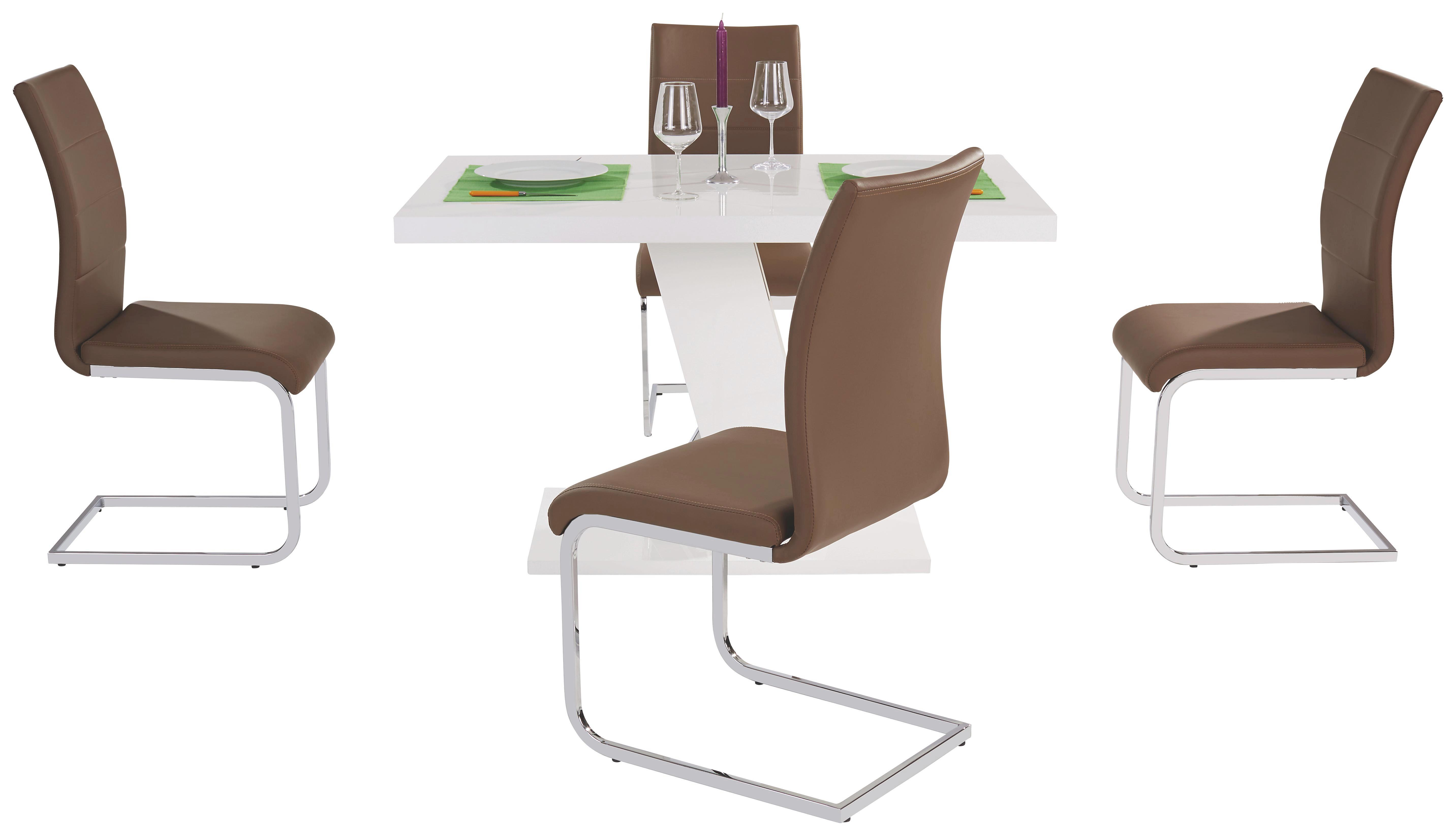 Étkezőasztal Leo - fehér, modern, faanyagok (120/75/80cm)