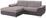 Wohnlandschaft L-form Verona 180x265 cm - Chromfarben/Silberfarben, LIFESTYLE, Holz/Kunststoff (180/265cm) - Ombra