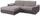 Wohnlandschaft L-form Verona 180x265 cm - Chromfarben/Silberfarben, MODERN, Holz/Kunststoff (180/265cm) - Ombra