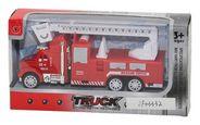 Tűzoltó Autó Feuerwehr - Piros, Basics, Műanyag (12/6/3,8cm)