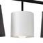 Závesná Lampa Elanie 84/149 Cm, 60 Watt - čierna/sivá, Štýlový, kov/textil (84/149cm) - Premium Living