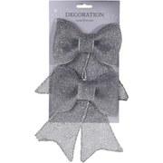 Dekoschleife Carmen - Silberfarben, MODERN, Kunststoff (13/18cm)