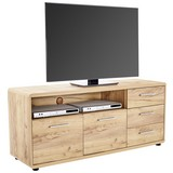 TV-Board Fontana Ftk07 B: 150 cm Kraft Eiche - Eichefarben/Schwarz, MODERN, Holzwerkstoff (150/60/38cm)