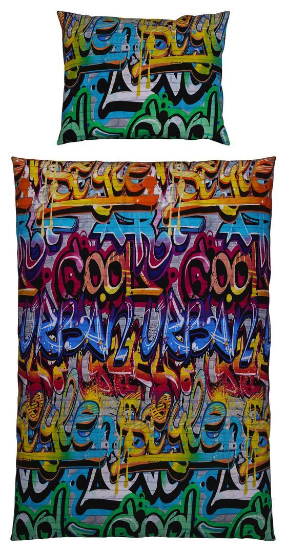 Bettwäsche Graphity - Multicolor, MODERN, Textil - Luca Bessoni