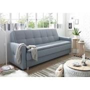 Schlafsofa Damian B: ca. 216 cm - Blau/Silberfarben, MODERN, Holzwerkstoff/Textil (216/95/88cm) - Carryhome