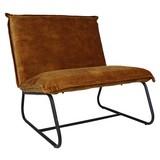 Sessel Paris Bench B: 83cm Dunkelgelb - Dunkelgelb/Schwarz, MODERN, Textil (83/83/75cm) - MID.YOU