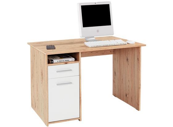 Písací Stôl Palermo - farby dubu/hnedá, Moderný, kompozitné drevo (110/74/60cm)