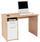 Schreibtisch Palermo - Eichefarben/Weiß, MODERN, Holzwerkstoff (110/74/60cm)