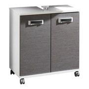 Waschbeckenunterschrank Cadiz B: 59,8 cm Weiß/Grau - Weiß/Grau, MODERN, Holzwerkstoff (59,8/63,4/32,6cm) - MID.YOU
