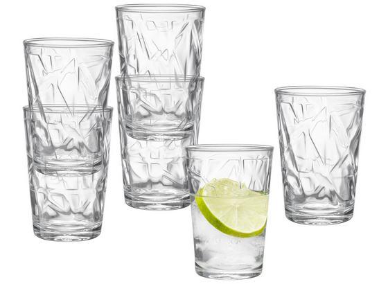 Gläserset Malte, ca. 205ml, 6-tlg. Set - Transparent, KONVENTIONELL, Glas - Ombra