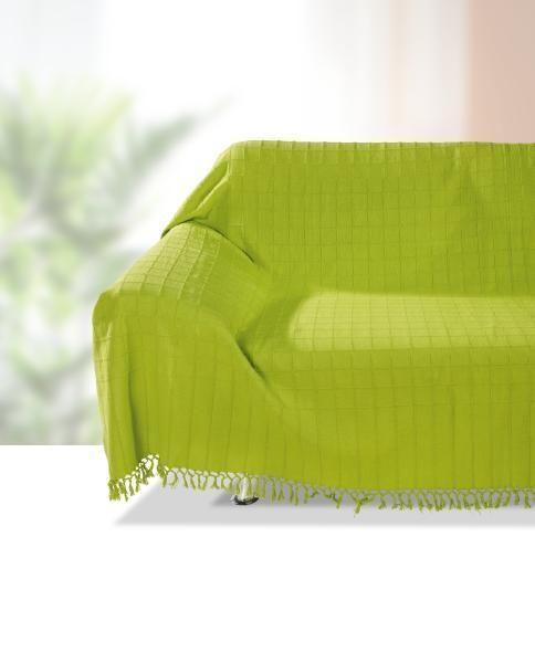 Ágytakaró Irina - zöld, konvencionális, textil (140/210cm) - OMBRA