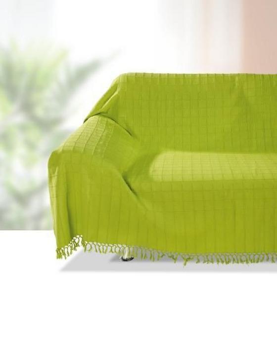 Überwurf Irina - Grün, KONVENTIONELL, Textil (210/260cm) - Ombra