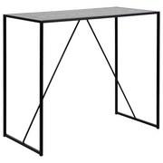 Bartisch Seaford B: 120 cm - Schwarz, Basics, Holzwerkstoff/Metall (120/105/60cm) - MID.YOU