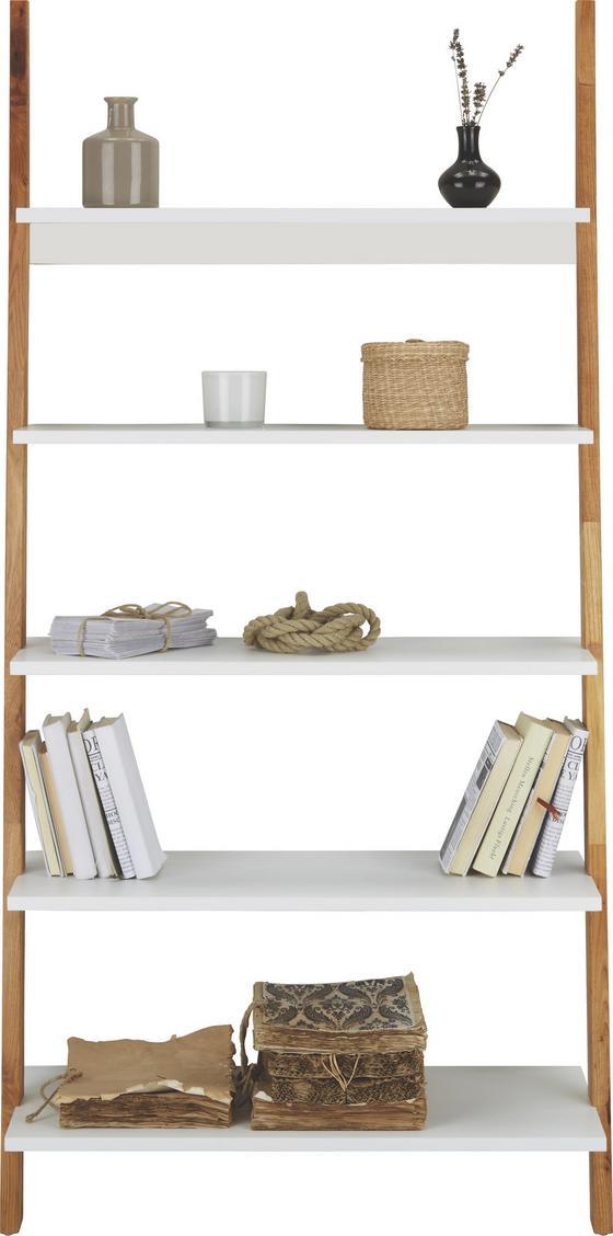 Regál Durham - prírodné farby/biela, Moderný, drevený materiál/drevo (85/170/40cm) - Mömax modern living