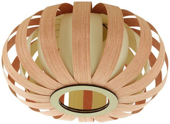 Deckenleuchte Arnella Ø 38 cm - Braun/Naturfarben, MODERN, Holz/Kunststoff (38/22cm)