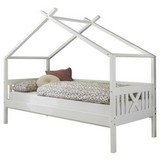 Hausbett Leonie 90x200 cm Weiß - Weiß, MODERN, Holz (90/200cm) - Livetastic