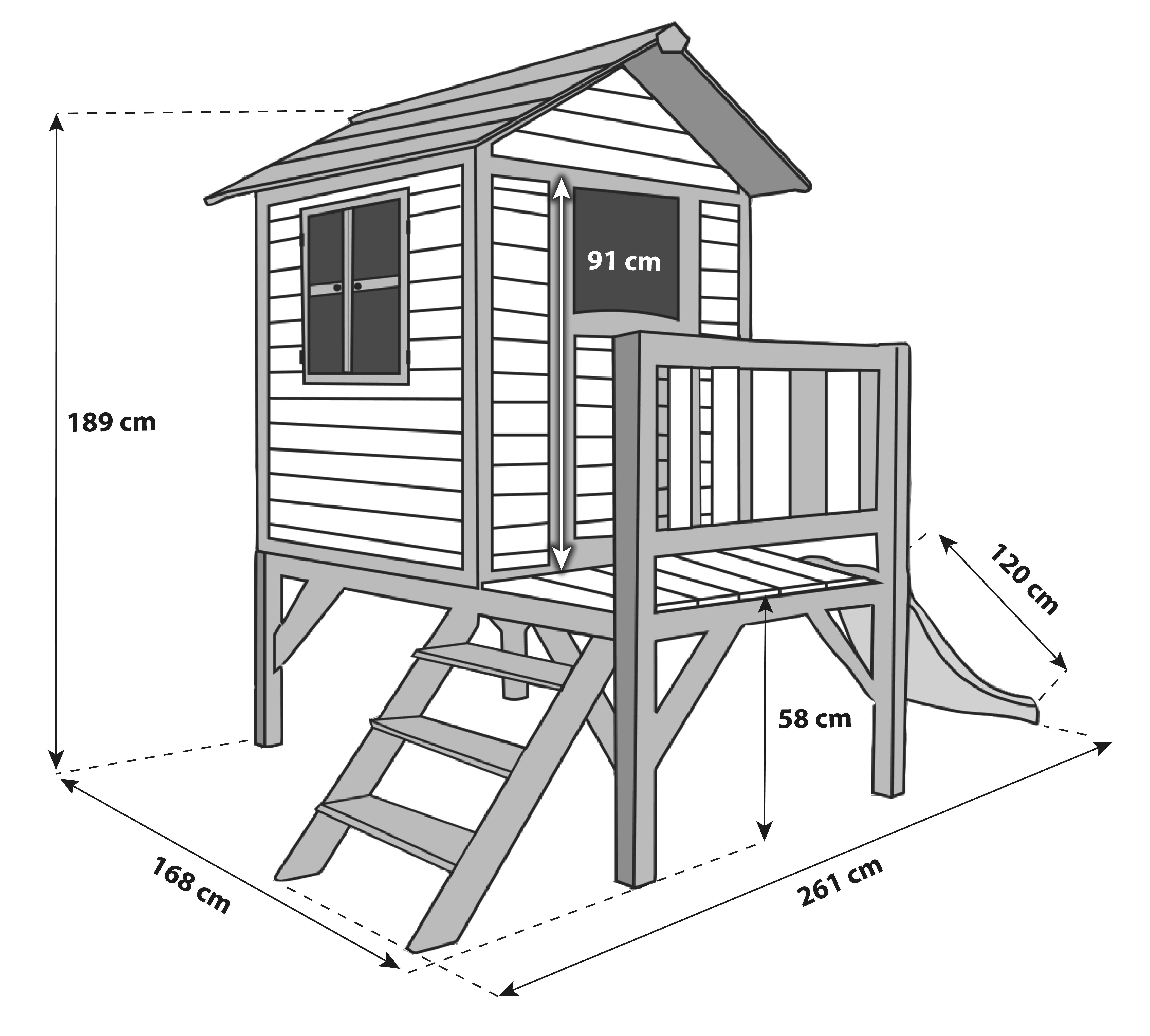 Spielhaus Sunny Lodge XL_Maße