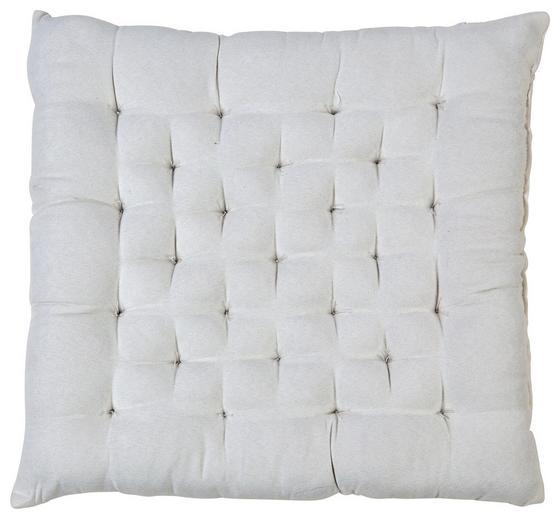 Sitzkissen Agatha 40x40 cm - Creme, KONVENTIONELL, Textil (40/40/6cm) - Ombra