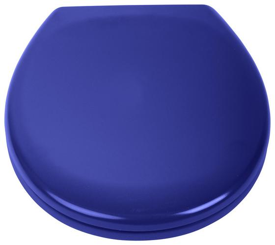 WC-Sitz Duroplast Dunkelblau - Dunkelblau, MODERN, Kunststoff (37,4/45,3cm)
