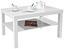 Dohányzóasztal Light - Fehér, modern, Faalapú anyag (90/45/55cm)