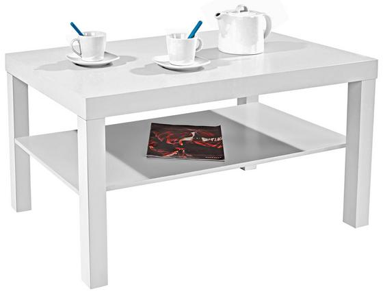 Konferenční Stolek Light - bílá, Moderní, dřevěný materiál (90/45/55cm)