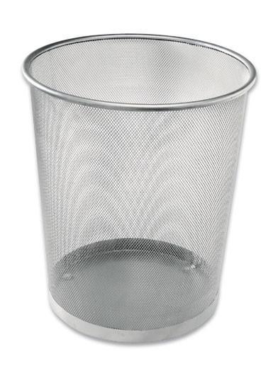 Kôš Na Papier Mesh 684001  -sb- - strieborná, kov (30,5/34,5/29,5cm) - Homezone