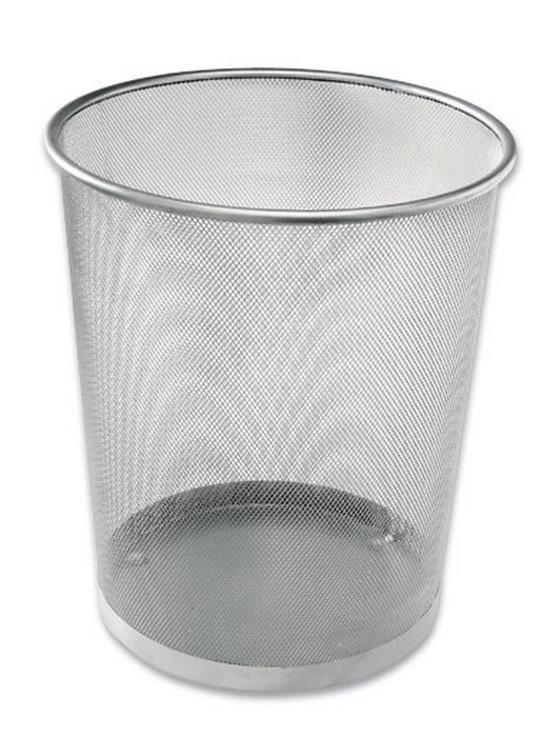 Koš Na Papír Mesh 684001  -sb- - barvy stříbra, kov (30,5/34,5/29,5cm)