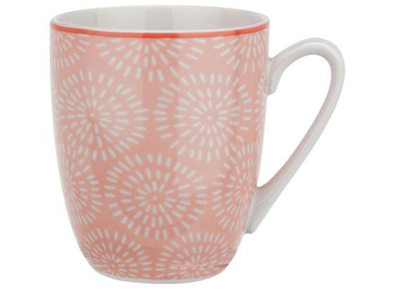 Kaffeebecher Nina Aus Porzellan Ca. 340ml - ružová, keramika (8,5/10cm) - Mömax modern living
