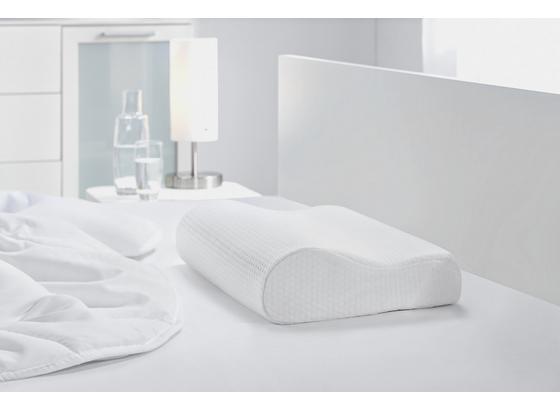 Anatomický Polštář Visco Comfort - bílá, textil (30/48/11cm) - Based