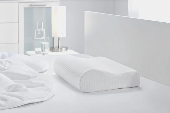 Anatomický Vankúš Visco Comfort - biela, textil (30/48/11cm) - MÖMAX modern living