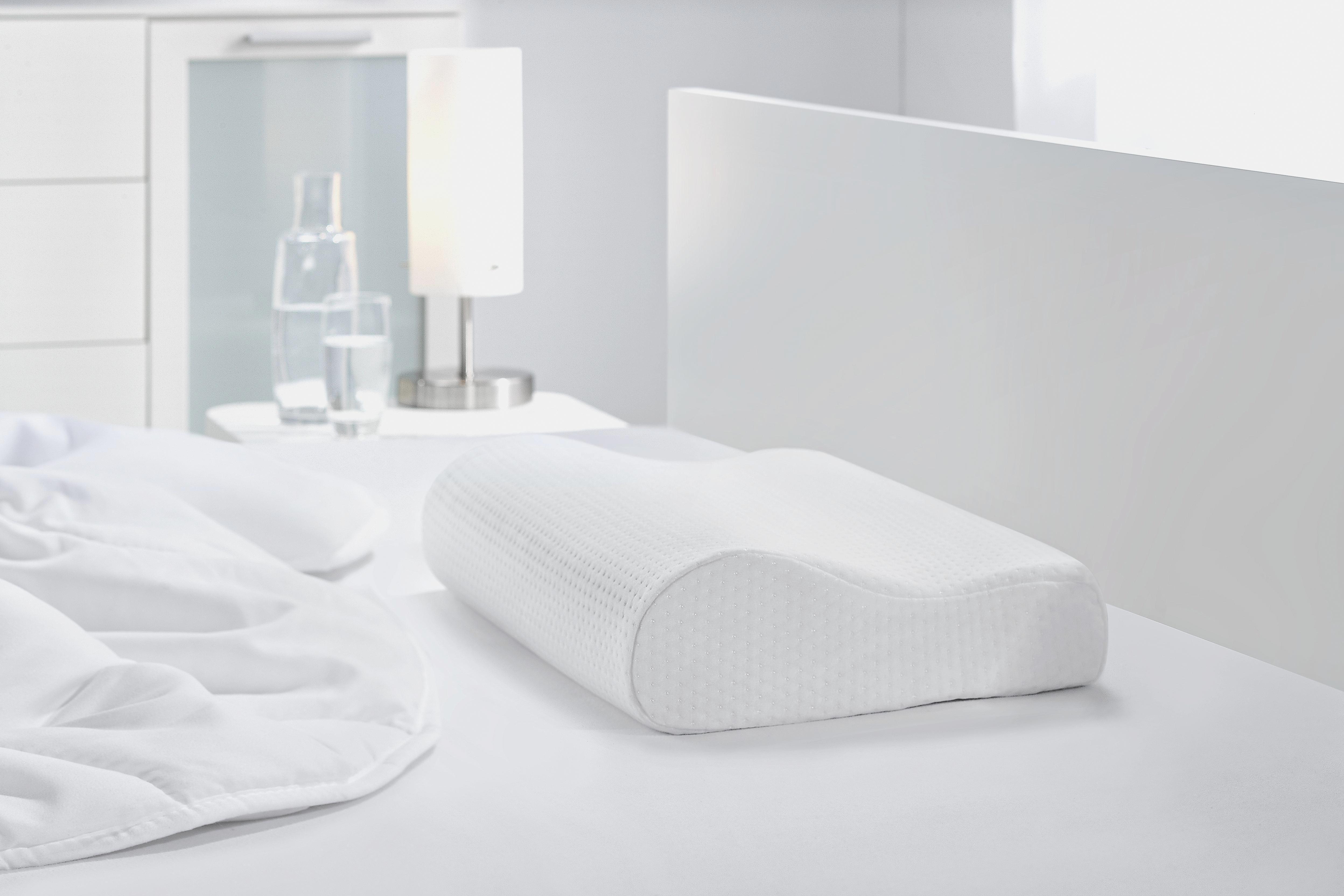 Záhlavový Vankúš Visco Comfort - biela, textil (30/48/11cm) - MÖMAX modern living
