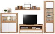 Doporučená Kombinace Kashmir New 2 - bílá/barvy dubu, Moderní, kompozitní dřevo (299/192/49cm) - James Wood