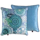 Zierkissen-doubleface Sinsin - Blau, MODERN, Textil (48/48cm)