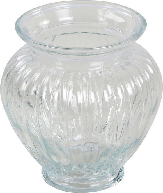 Vase Justine - Klar, ROMANTIK / LANDHAUS, Glas (14/15cm) - JAMES WOOD