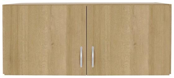 Aufsatzschrank Karo, 2trg - Eichefarben, KONVENTIONELL, Holz (91/39/54cm)