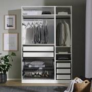 Kleiderschrankkorpus Unit B:46cm Weiß Dekor - Weiß, MODERN, Holzwerkstoff (45,6/210/56,5cm) - Ombra
