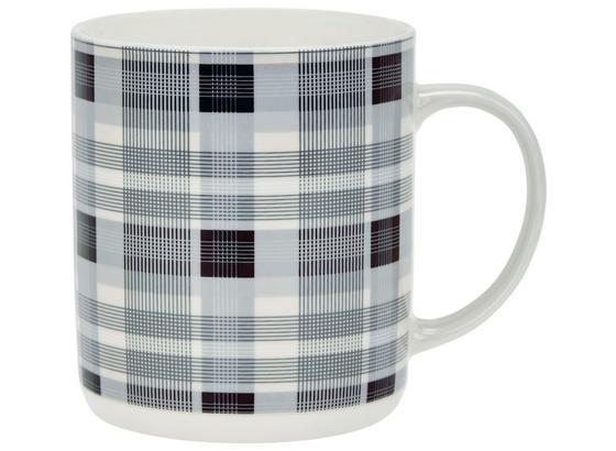 Kaffeebecher Juliana - Weiß/Grau, KONVENTIONELL, Keramik (8,7/10,2cm) - Luca Bessoni