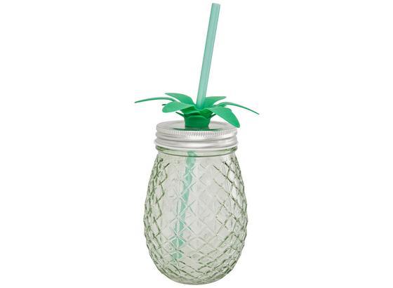 Pohár Pineapple - ružová/mätovozelená, kov/plast (9/13,3cm) - Mömax modern living