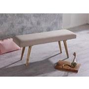 Sitzbank Salim B: 117 cm Mangoholz - Beige/Braun, Natur, Holz/Textil (117/51/38cm) - MID.YOU