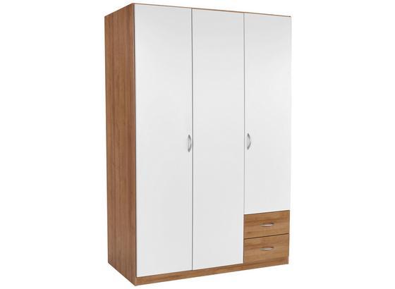 Skriňa S Otočnými Dverami Karo-extra - farby dubu/biela, Konvenčný, kompozitné drevo (136/197/54cm)