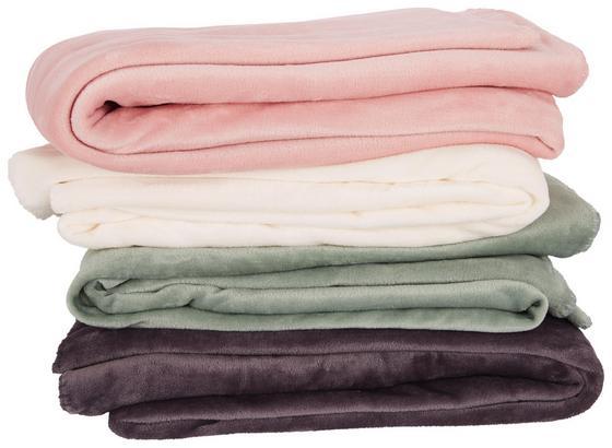 Deka Finni - bílá/růžová, Basics, textil (130/170cm) - Mömax modern living
