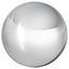 Koule Dekorační Leon I - barvy stříbra, Basics, kov (10cm)