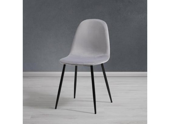 Stolička Lio - čierna/svetlosivá, Moderný, kov/drevo (43/86/55cm) - Modern Living