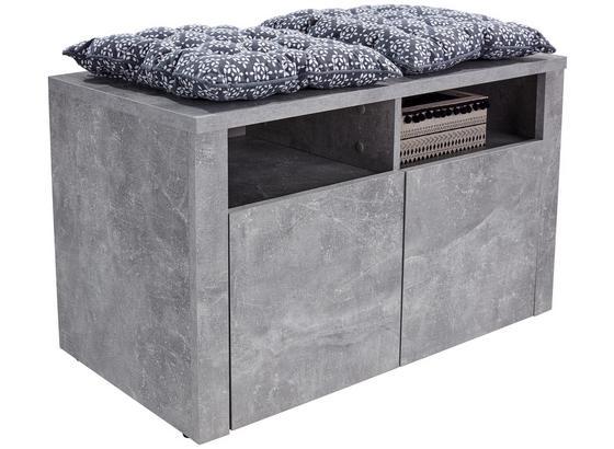 Šatní Lavice Simple - světle šedá, Moderní, kompozitní dřevo (90/49/38cm)