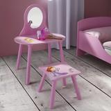 Kozmetický Stolík Alisa - ružová, Moderný, drevený materiál/drevo (59/30/83,5/27/40/30cm) - Mömax modern living