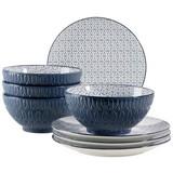 Desserttellerset & Schüssel Telde - Blau, Basics, Keramik