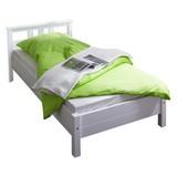 Bett Echtholz Massiv 90x200 Merci, Weiß - Weiß, KONVENTIONELL, Holz (90/200cm) - Livetastic