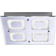 LED-Deckenleuchte Lisa - Chromfarben, KONVENTIONELL, Metall (36/36/5,8cm) - LUCA BESSONI