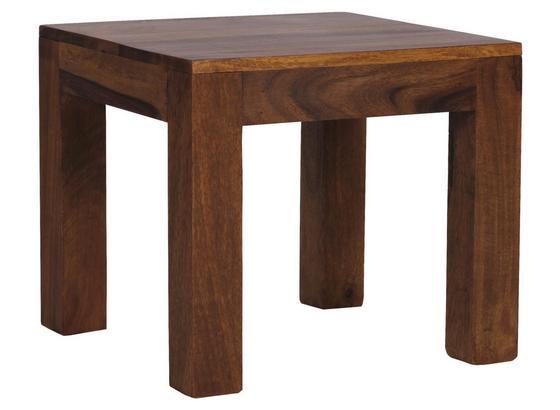 Beistelltisch Sheesham-Holz Massiv, Echtholz + Wasserlack - Sheeshamfarben, Design, Holz (45/45/40cm) - MID.YOU