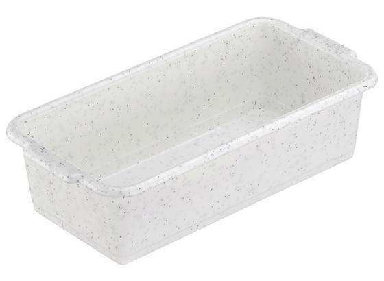 Aufbewahrungsbox Weiß - Blau/Weiß, KONVENTIONELL, Kunststoff (20/5.5/10cm)